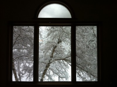 snow outside her livingroom 400x298 - Cast Out Fear